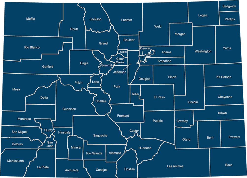 Map of Colorado Community College Campuses