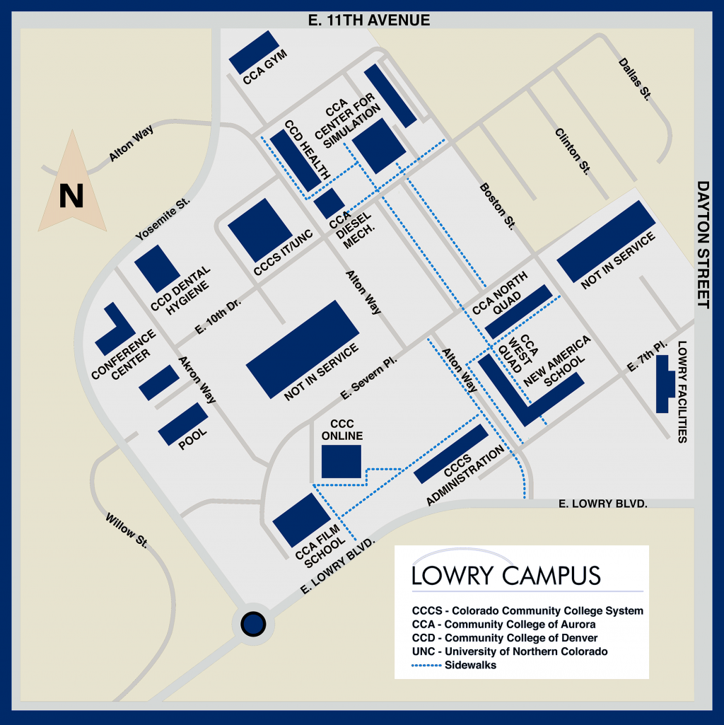 Map of Lowry Campus