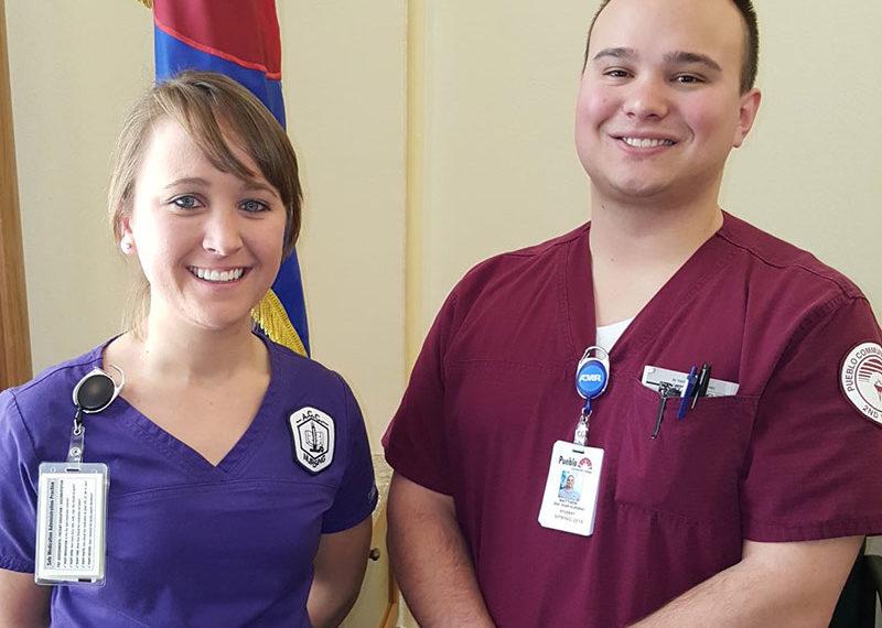 CCCS nursing students smiling together