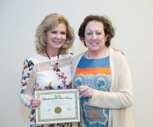 Dr. Patty Erjavec and System president, Dr. McCallin