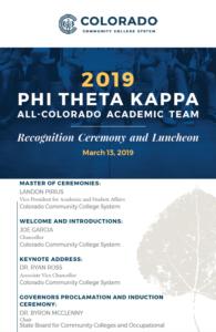 2019 PTK Program