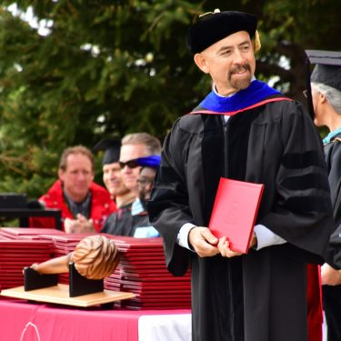 Chancellor Joe Garcia attending Red Rocks Community College graduation