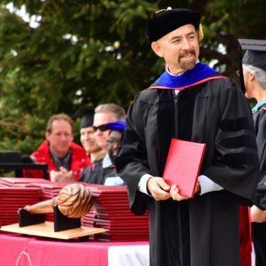 Chancellor Joe Garcia attending Red Rocks Community College graduation