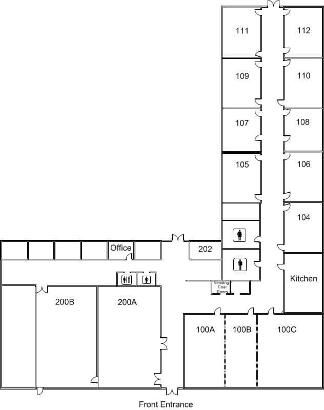 conference center floor layout