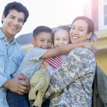 Man and his children are reunited with military mom
