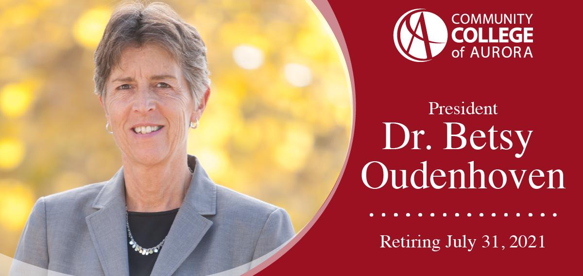 CCA President Dr. Betsy Oudenhoven Retiring July 31, 2021