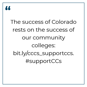 Tweet Preview: The success of Colorado rests on the success of our community colleges: bit.ly/cccsadvocacy. #supportCCs