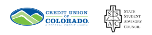 Credit Union of Colorado and State Student Advisory Council Logos