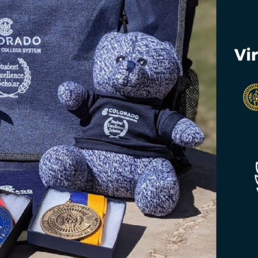 Virtual Celebration of 2021 Student Excellence Awards; Award gifts: backpack, stuffed bear, popcorn and medals with CCCS and award logos