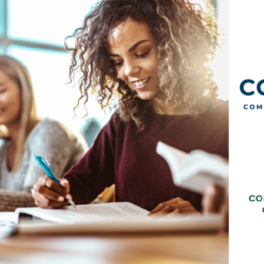CCCS and CSU Logos with image of diverse students studying