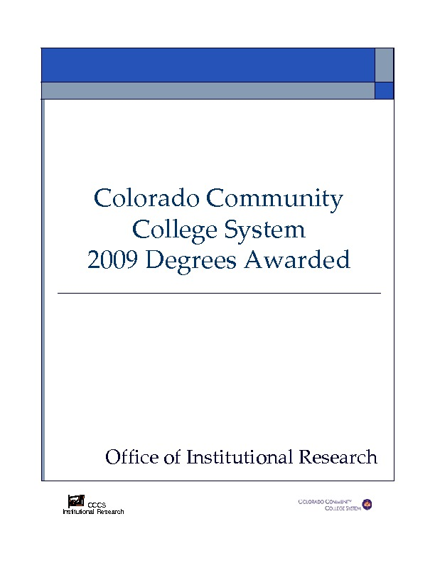 2009 Degrees Awarded PDF