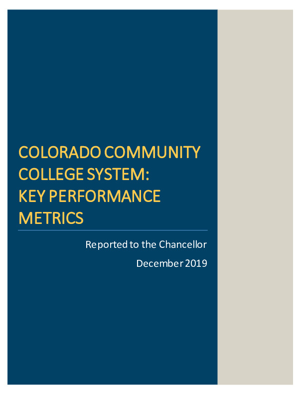 2019 Additional CCCS Key Performance Metrics Report PDF
