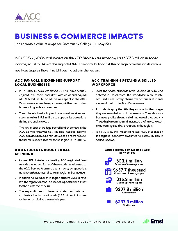 Business & Commerce Impacts (ACC) PDF