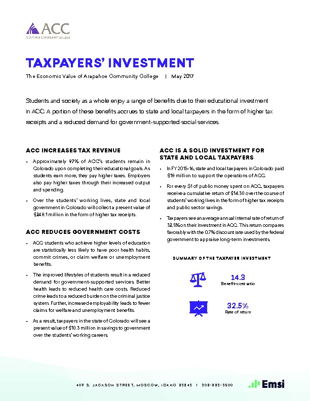Taxpayers' Investment (ACC) PDF