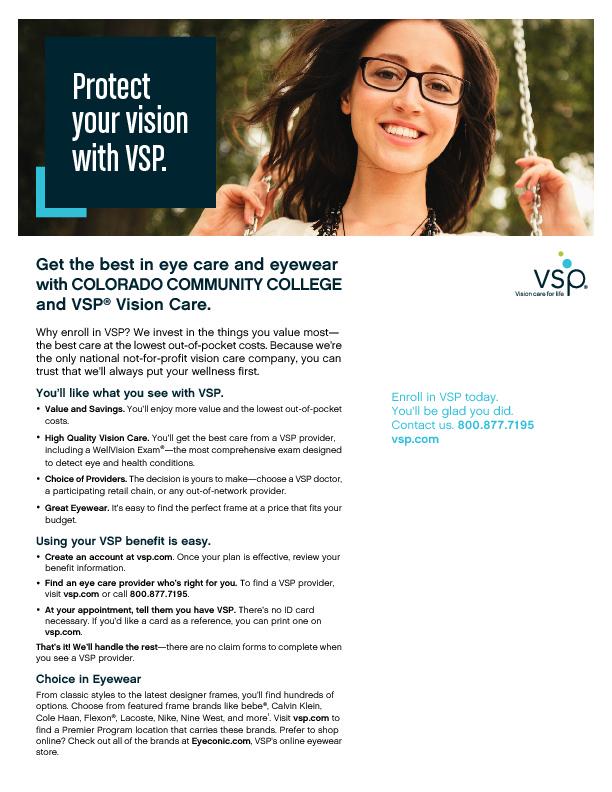 APT & Faculty VSP Information Sheet PDF