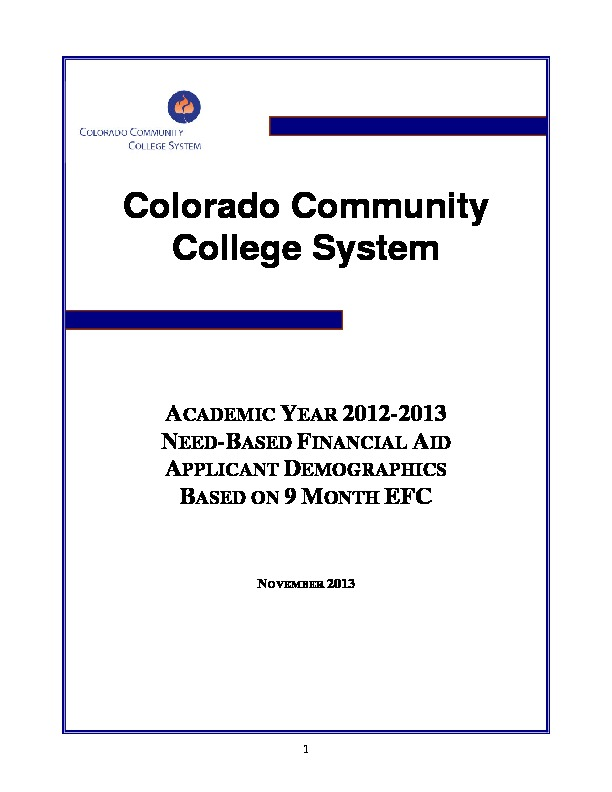 2013 Financial Aid Report PDF