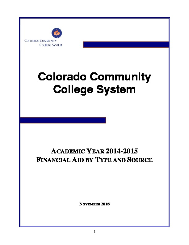 2015 Financial Aid Report PDF