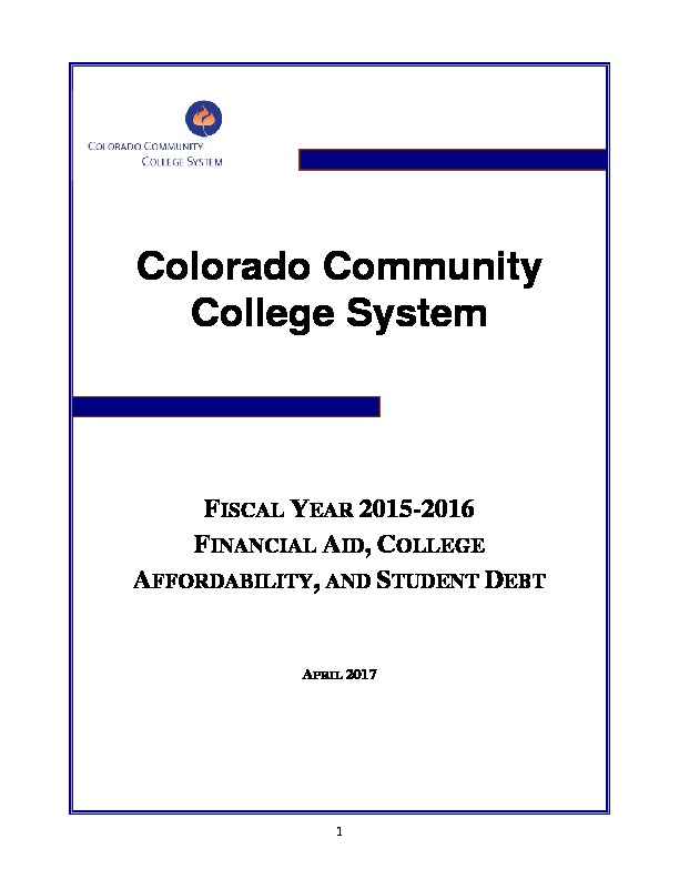 2016 Financial Aid Report PDF