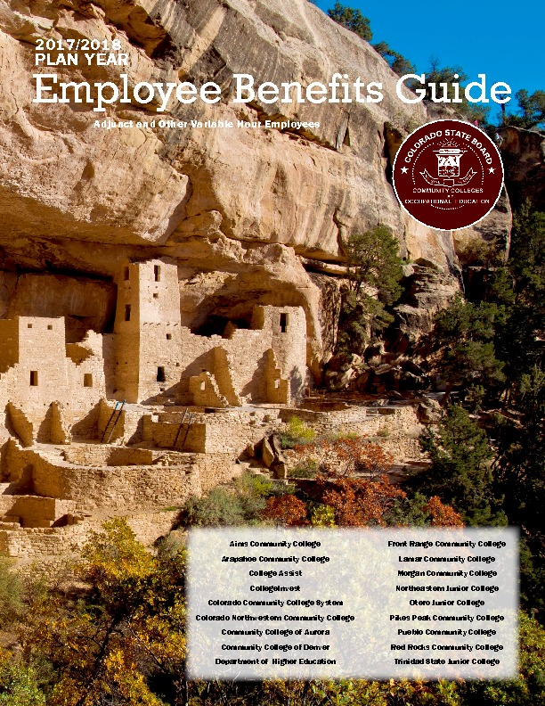 Benefit Guide for Adjunct & Variable Hour Employees PDF