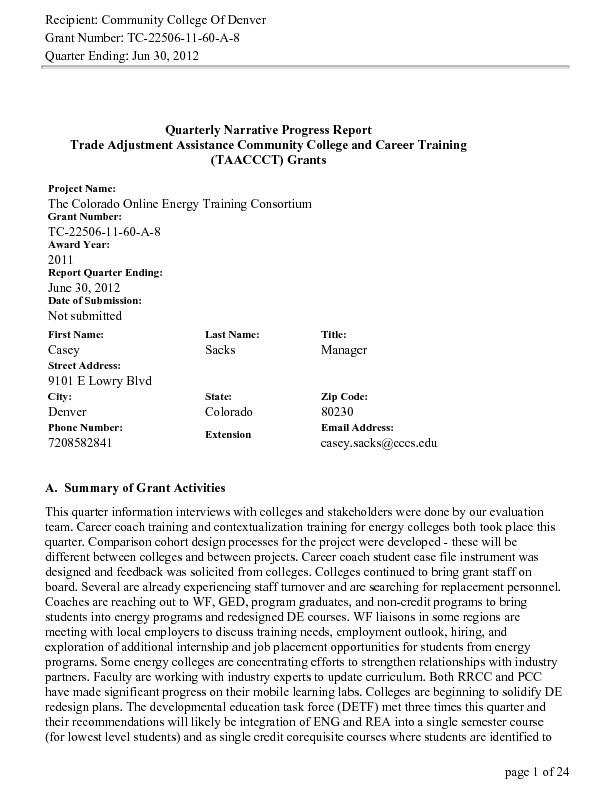 Quarter Ending June 2012 PDF