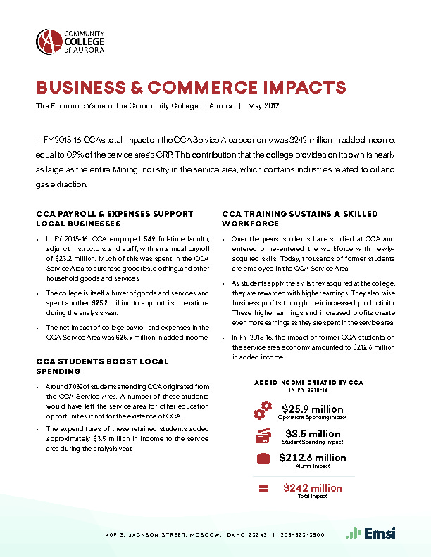 Business & Commerce Impacts (CCA) PDF