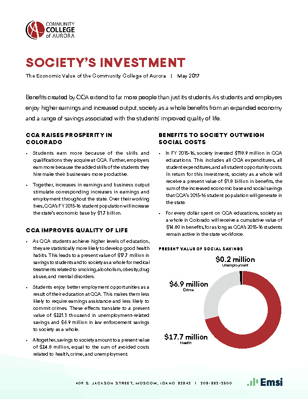 Society's Investment (CCA) PDF