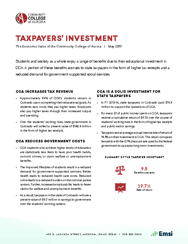 Taxpayers' Investment (CCA) PDF