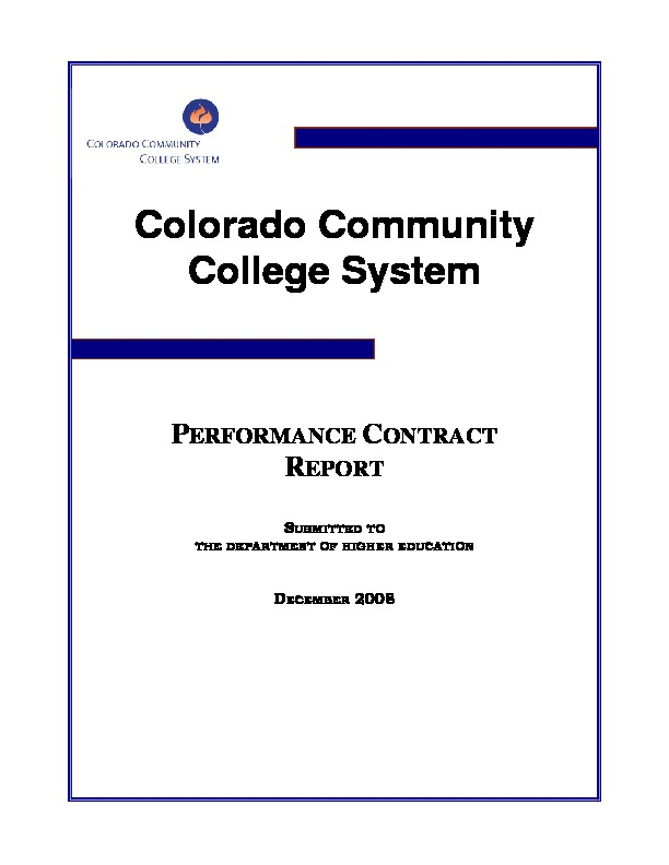 2008 Performance Contract PDF