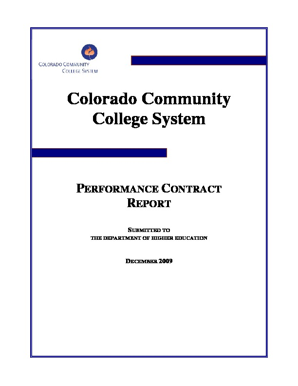 2009 Performance Contract PDF