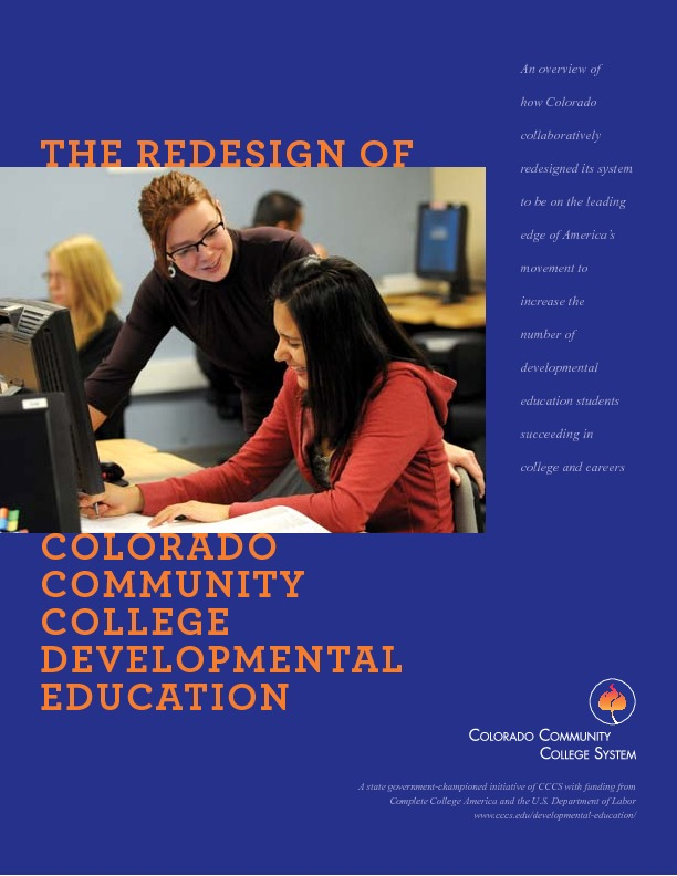 CCCS-Developmental-Ed-Redesign-Brochure-8-2013 PDF