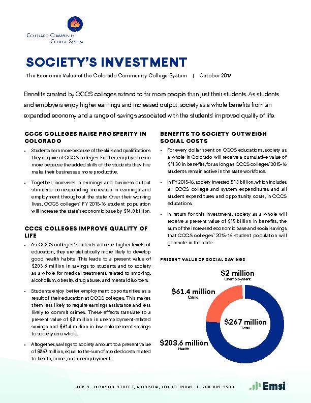 Society's Investment PDF