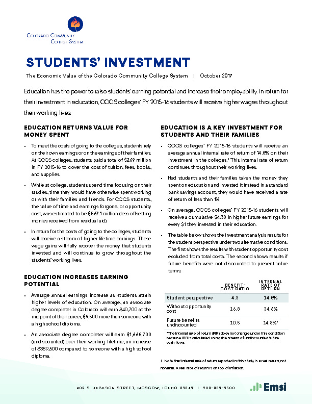 Students' Investment PDF