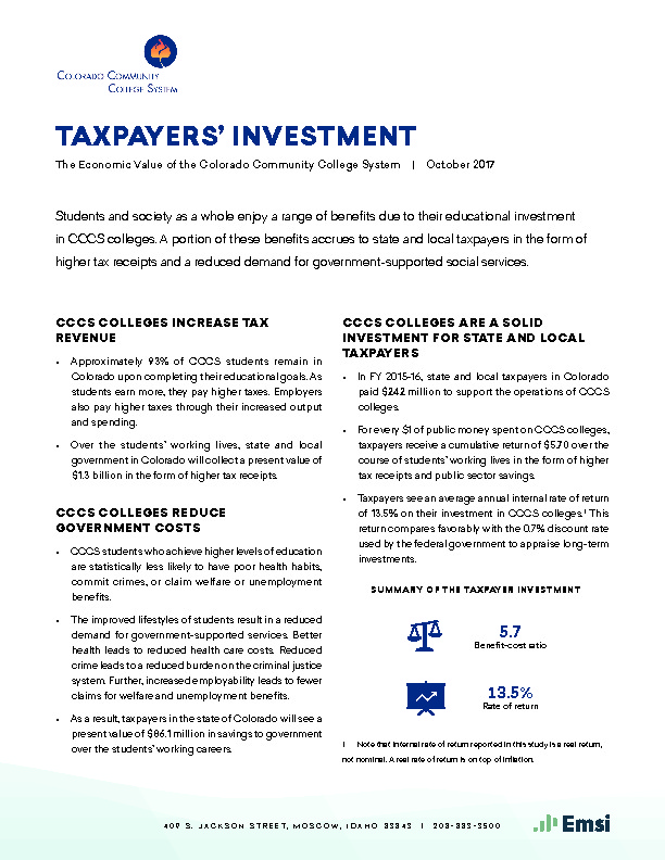 Taxpayers' Investment PDF