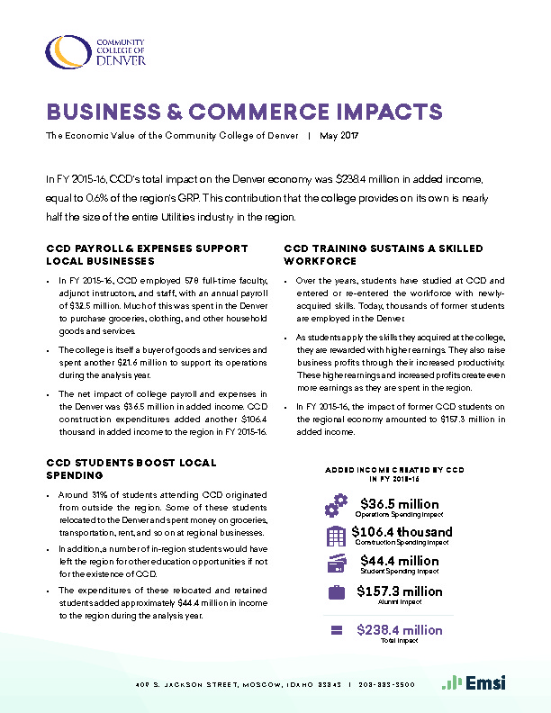 Business & Commerce Impacts (CCD) PDF