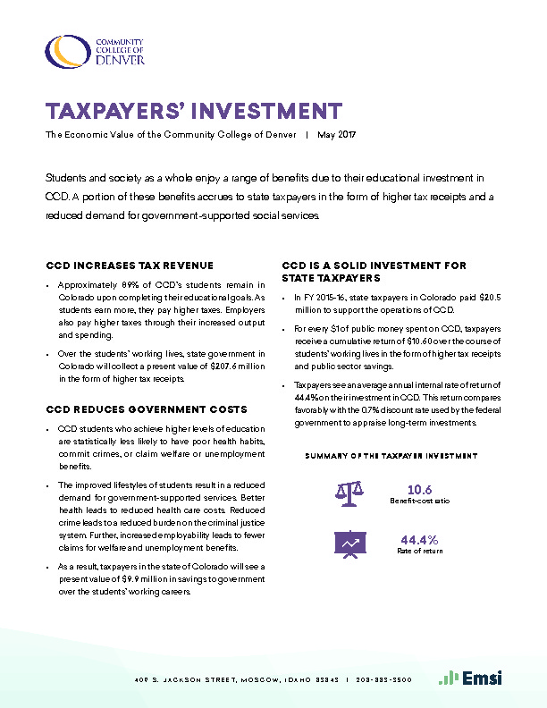 Taxpayers' Investment (CCD) PDF
