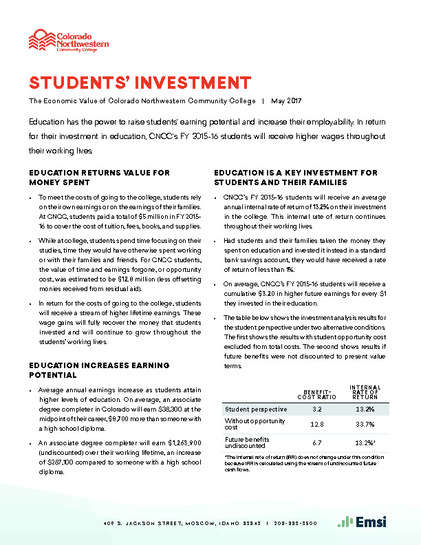 Students' Investment (CNCC) PDF