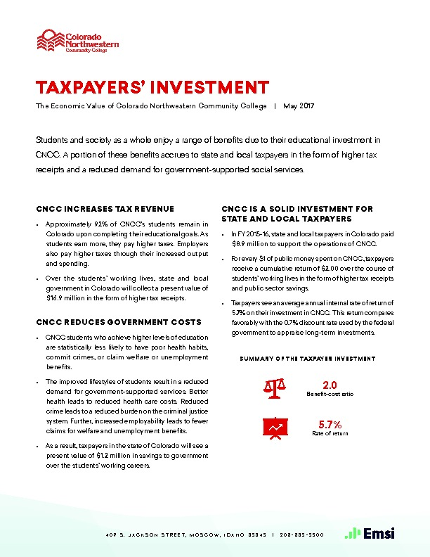 Taxpayers' Investment (CNCC) PDF