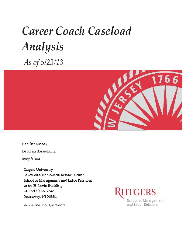 Career Coach Caseload Analysis May 2013 PDF