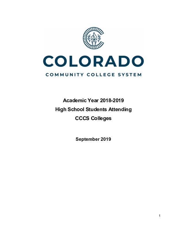 2018-19 Concurrent Enrollment Report PDF