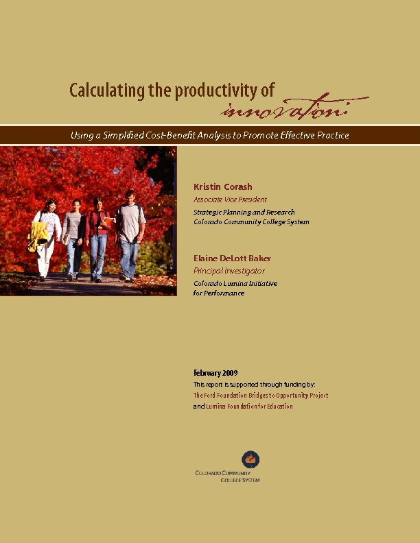 Calculating the Productivity of Innovation Report PDF