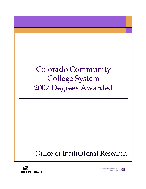 2007 Degrees Awarded PDF