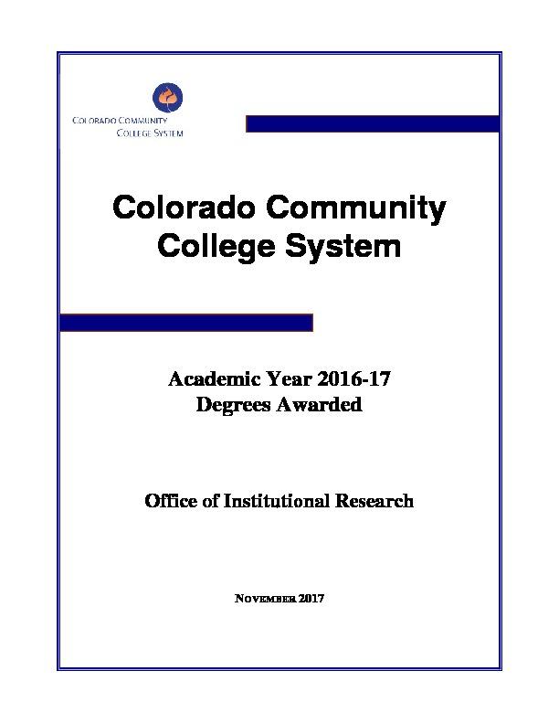 2017 Degrees Awarded PDF