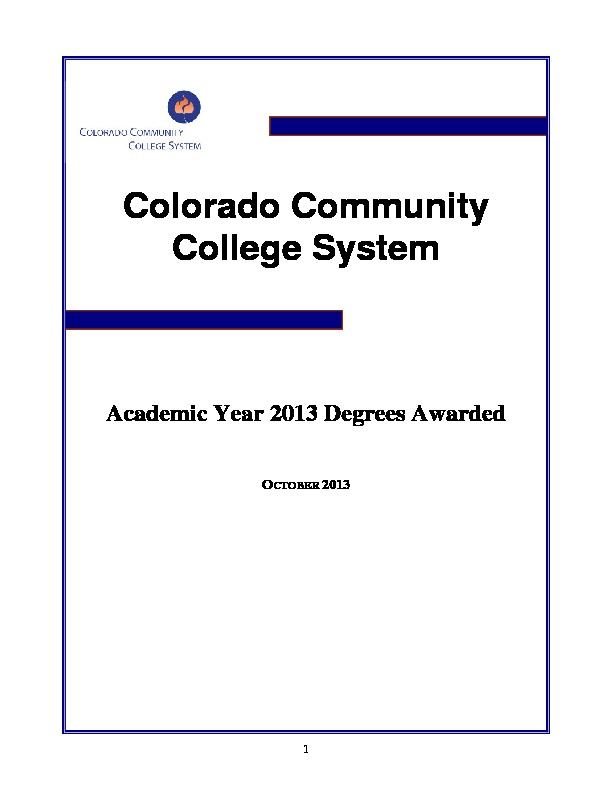 2013 Degrees Awarded PDF