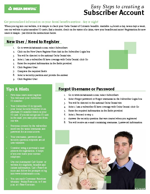 Delta Dental Opening a Web Account PDF