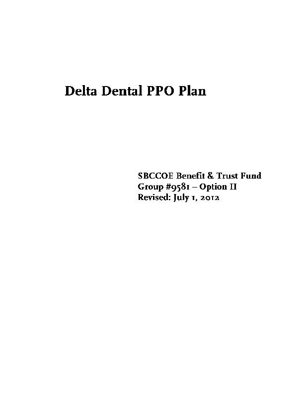 Delta Option II Plan Description PDF