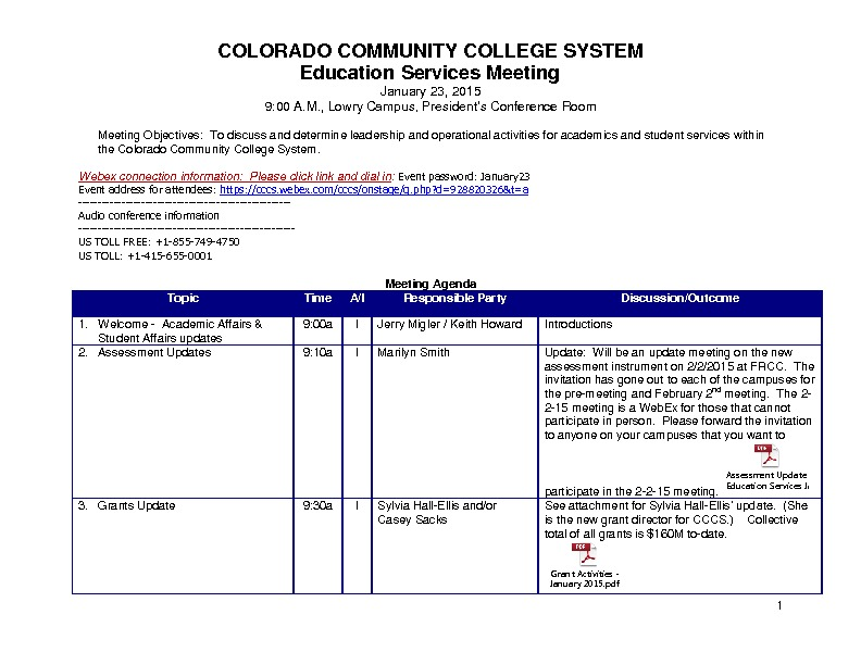 Education Services Council Minutes 1.27.15 PDF