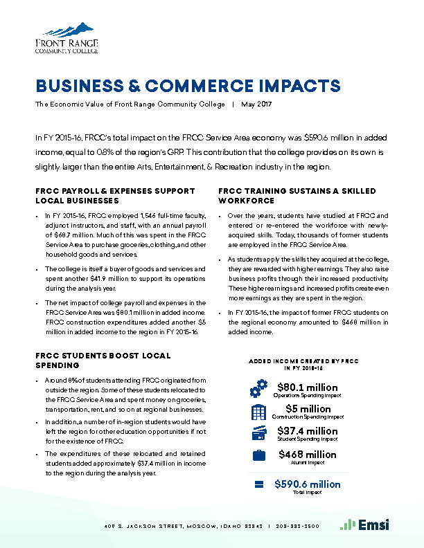Business & Commerce Impacts (FRCC) PDF