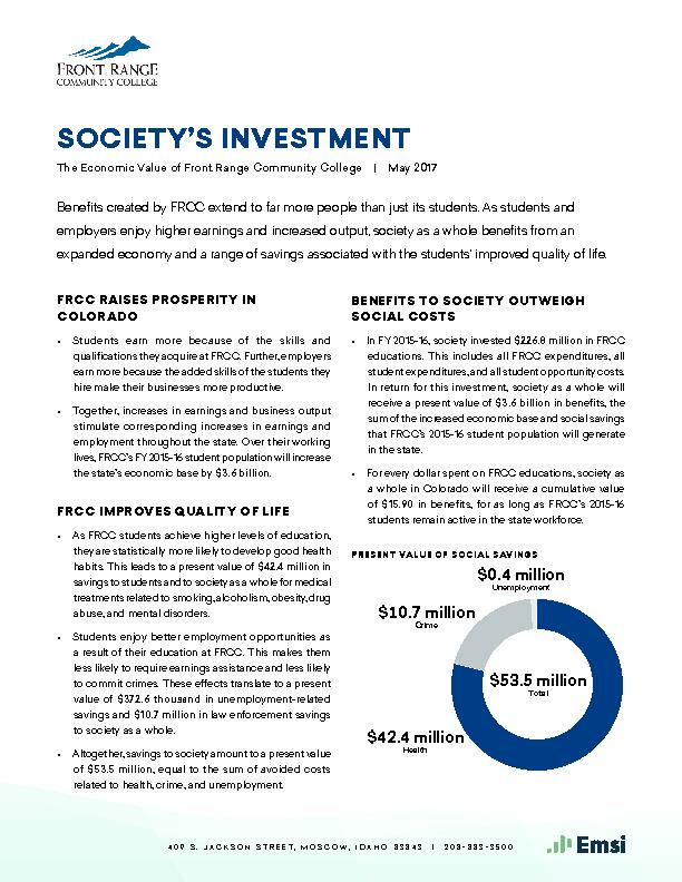 Society's Investment (FRCC) PDF