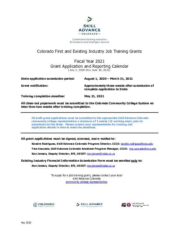 FY2021 SA CF_EI Grant App_Rep Calendar v 5-21-20 PDF