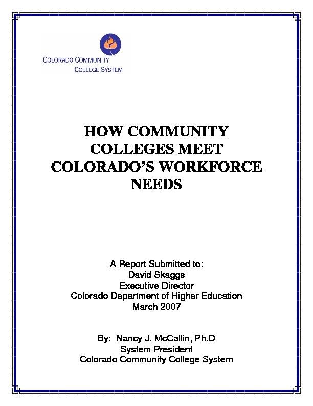 2007 Workforce Training PDF